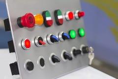 Sluit omhoog veel soort elektrische controleschakelaar voor industrieel royalty-vrije stock foto's