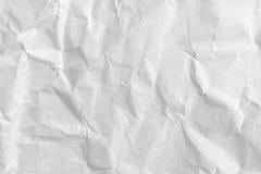 Sluit omhoog verfrommelde Witboektextuur en achtergrond royalty-vrije stock foto's