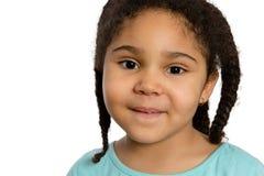 Sluit omhoog Vier Éénjarigen Meisje het Glimlachen bij u royalty-vrije stock afbeelding