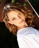 Sluit omhoog vrouwelijk model Royalty-vrije Stock Foto's