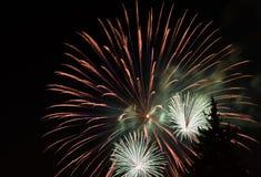 Sluit omhoog vuurwerk Royalty-vrije Stock Foto