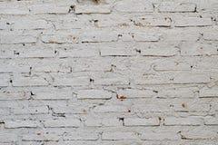 Sluit omhoog witte bakstenen muur met ruw huidpatroon voor achtergrondtextuur royalty-vrije stock afbeelding