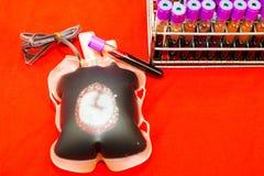 Sluit omhoog zak van bloed en plasma en rubberbuis royalty-vrije stock afbeeldingen