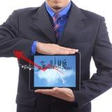 Sluit omhoog zakenman met reizigersconcept Stock Fotografie