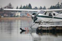 Sluit op Vastgelegd Watervliegtuig stock afbeelding