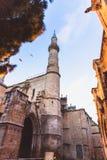 Sluit Selimiye-omhoog Moskee, Camii, door Mimar Sinan in 1575 wordt ontworpen die Edirne, Turkije royalty-vrije stock afbeelding
