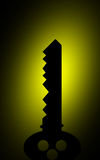 Sluit silhouet Stock Foto