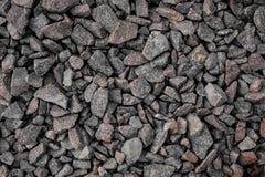Grijze verpletterde kiezelstenen stock foto afbeelding bestaande