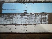 Sluit tot de oude achtergrond van de kleuren houten textuur, materiaal voor inte Stock Afbeelding