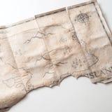 Sluit tot uitstekende kaart met vals eiland van Piratenschat Royalty-vrije Stock Fotografie