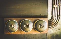 Sluit van detail van een zeer oud licht inschakelen omhoog oude houten textuurachtergronden Stock Fotografie