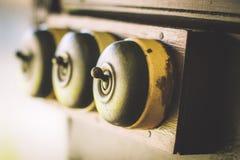 Sluit van detail van een zeer oud licht inschakelen omhoog oude houten textuurachtergronden Stock Foto's