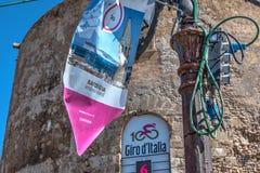 Sluit van een Giro omhoog de banner van D ` Italië Stock Afbeelding