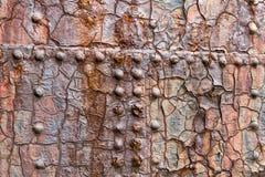 Sluit van groot stelen omhoog deur bij een droogdok in Noord-Ierland Stock Afbeeldingen