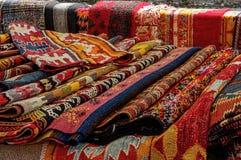 Sluit van omhoog traditionele tapijten Stock Afbeelding