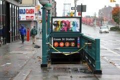 Sluiting NYC --Zandige orkaan Stock Foto's