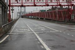 Sluiting NYC --Zandige orkaan Stock Foto