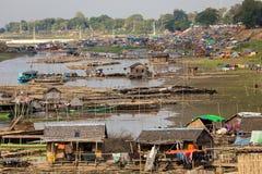 Slum area in Myanmar Royalty Free Stock Image