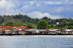 Slum in Borneo Stock Images