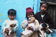 Slum Children in India Royalty Free Stock Images