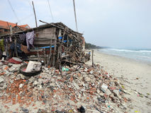 Slum on the coast Stock Image