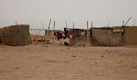 Slum in the Desert Stock Photo