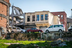 Slum district in Istanbul, Turkey Royalty Free Stock Images