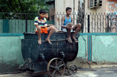 Slum dwellers of Kolkata-India Royalty Free Stock Photo
