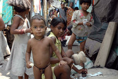 Slum dwellers of Kolkata-India Royalty Free Stock Photos