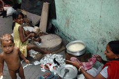 Slum dwellers of Kolkata-India Stock Photography