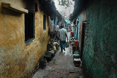 Slum dwellers of Kolkata-India Stock Photos