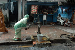 Slum dwellers of Kolkata-India Royalty Free Stock Images