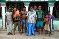 Slum dwellers of Kolkata-India. September 17,2012 Bantala,Kolkata,West Bengal,India,Asia-Slum dwellers are posing Royalty Free Stock Photography