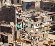 Slum dwellings in Cairo Egypt Royalty Free Stock Photography