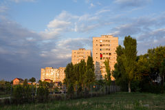 Slum flats. Blocks of flats from outskirts of Bucharest Royalty Free Stock Photography