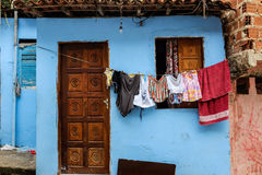 Slum house. Colorful house frontdoor in a slum Royalty Free Stock Photography