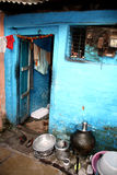 Slum House Entrance. The entrance of a house in an Indian slum / ghetto Stock Photography