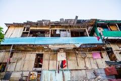 Slum house in jakarta stock photography