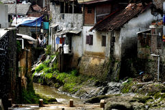 Slum houses in Indonesia Royalty Free Stock Photography