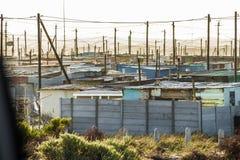 Slums. Slum houses outside of South Africa Cape town Stock Photos