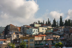 Slum housing in Turkey royalty free stock image