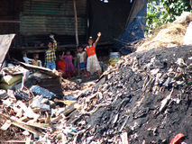 Slum Kids. Kids from Indian slums living in very unhygienic conditions Stock Images
