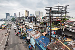 Slum. MANILA, PHILIPPINES - MARCH 18: Slum region on March, 18, 2013, Manila, Philippines. Manila is a Philippines capital with very strong contrasts in standard royalty free stock photos
