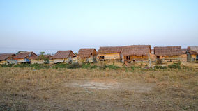 Slum Myanmar. Slum by rail from Yangon to Bagan Royalty Free Stock Image