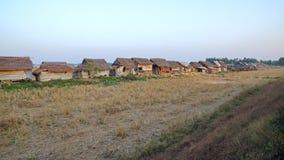 Slum Myanmar. Slum by rail from Yangon to Bagan Stock Photos