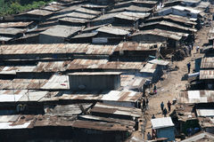 Slum in Nairobi stock image