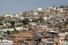 Slum, neighborhood in Sao Paulo, Brazil Stock Photography