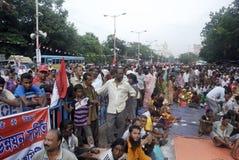 Slum people Rally. Stock Image