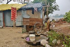 Slum of poor people Royalty Free Stock Photography
