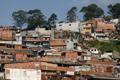 slum, poverty in neighborhood of Sao Paulo Stock Images